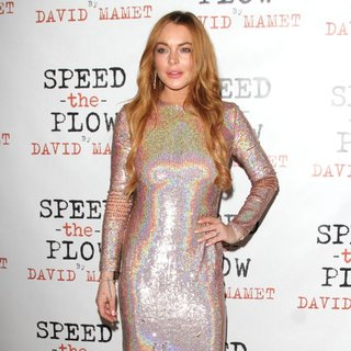 Lindsay Lohan - Speed The Plow Press Night Afterparty