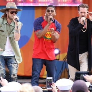 Florida Georgia Line, Nelly-Florida Georgia Line and Nelly Perform on ABC's Good Morning America 2017 Summer Concert Series
