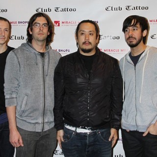 Linkin Park in Club Tattoo Inside Miracle Mile Shops Hosts An Autograph Signing with Linkin Park