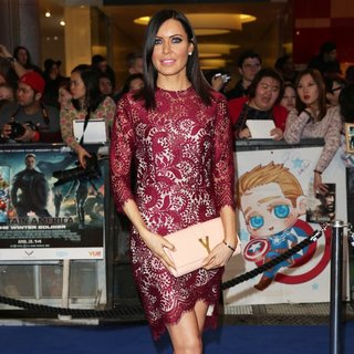 Linzi Stoppard in UK Premiere of Captain America: The Winter Soldier