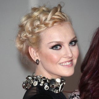 Perrie Edwards, Little Mix in The BRIT Awards 2012 - Arrivals