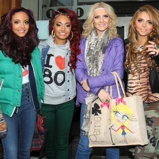Little Mix in Little Mix Leave The BBC Radio 1 Studios After Appearing on The Chris Moyles Breakfast Show