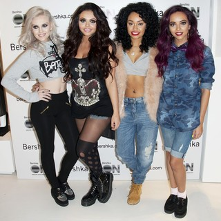 Little Mix in Little Mix Pose for Photographs at The Bershka Store Launch