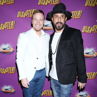 Brian Littrell, A.J. McLean, Backstreet Boys in Opening Night of The Broadway Musical Disaster - Arrivals