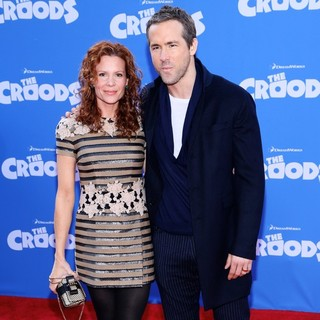 Robyn Lively, Ryan Reynolds in The Croods Premiere - Arrivals