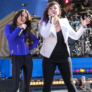 Cher Lloyd, Demi Lovato in Demi Lovato Performs on ABC's Good Morning America