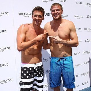 Ryan Lochte, Matt Haupt in Ryan Lochte Celebrates His Olympic Success by Hosting A Day at Azure Pool