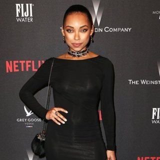 Logan Browning in The 2017 Weinstein Company and Netflix Golden Globes After Party
