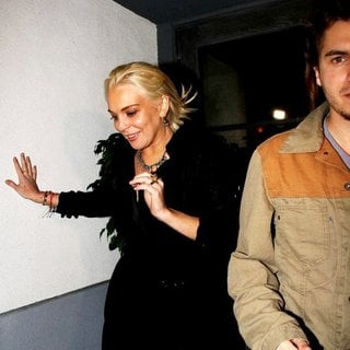 Lindsay Lohan, Emile Hirsch in Lindsay Lohan Leaving The Lexington Club