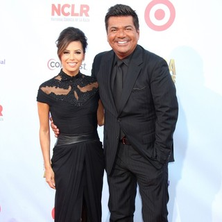 Eva Longoria, George Lopez in 2012 NCLR ALMA Awards - Arrivals