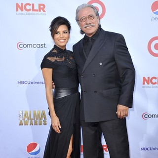 Eva Longoria, Edward James Olmos in 2012 NCLR ALMA Awards - Arrivals