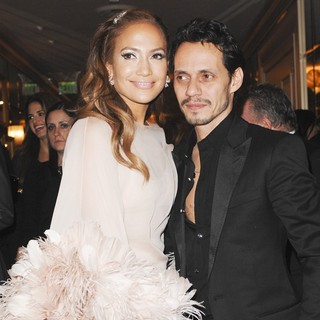 Jennifer Lopez, Marc Anthony in HBO's Post 2011 Golden Globe Awards Party - Arrivals