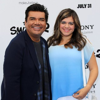 George Lopez, Mayan Lopez in The Los Angeles Premiere of The Smurfs 2 - Arrivals