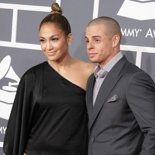 Jennifer Lopez, Casper Smart in 55th Annual GRAMMY Awards - Arrivals