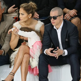 Jennifer Lopez, Emme Anthony, Casper Smart in Paris Fashion Week Spring-Summer 2013 - Chanel - Front Row