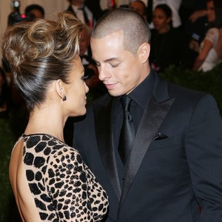 Jennifer Lopez, Casper Smart in PUNK: Chaos to Couture Costume Institute Gala