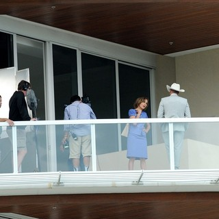 Jennifer Lopez, Jason Statham in On The Film Set of Parker Shooting on Location in Florida