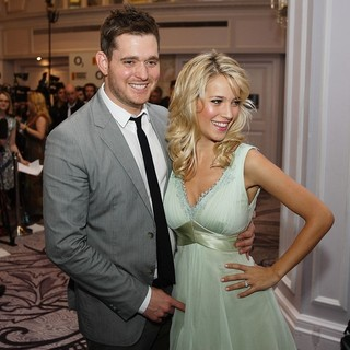 Michael Buble, Luisana Lopilato in The Nordoff Robbins O2 Silver Clef Awards