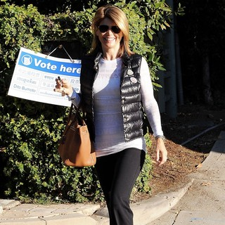 Lori Loughlin Arriving at The Voting Polling Station for The US Presidential Election