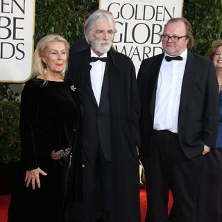 Susanne Lothar, Michael Haneke in 70th Annual Golden Globe Awards - Arrivals
