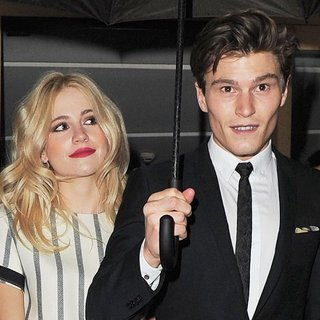 Pixie Lott, Oliver Cheshire in Pixie Lott and Oliver Cheshire Enjoy A Valentine's Day Dinner