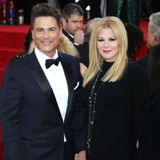 Rob Lowe, Sheryl Berkoff in 71st Annual Golden Globe Awards - Arrivals