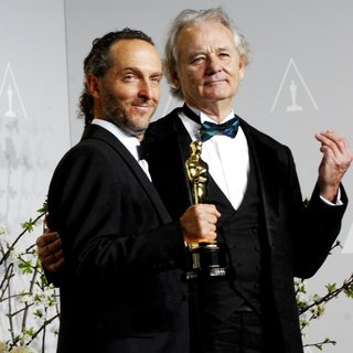 Emmanuel Lubezki, Bill Murray in The 86th Annual Oscars - Press Room