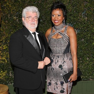 George Lucas, Mellody Hobson in The Academy of Motion Pictures Arts and Sciences' 4th Annual Governors Awards - Arrivals