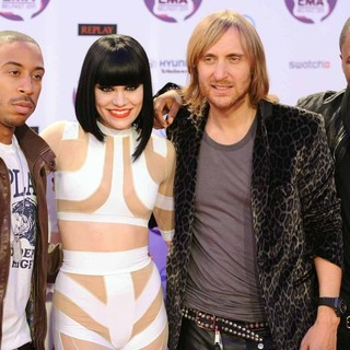 Ludacris, Jessie J, David Guetta, Taio Cruz in The MTV Europe Music Awards 2011 (EMAs) - Press Room