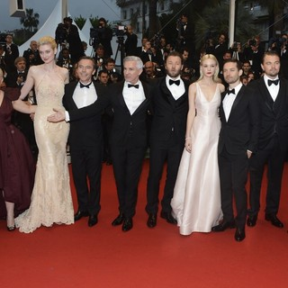 Catherine Martin, Elizabeth Debicki, Craig Pearce, Baz Luhrmann, Joel Edgerton, Carey Mulligan, Tobey Maguire, Leonardo DiCaprio, Amitabh Bachchan in Opening Ceremony of The 66th Cannes Film Festival - The Great Gatsby - Premiere