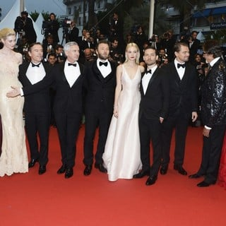 Catherine Martin, Elizabeth Debicki, Craig Pearce, Baz Luhrmann, Joel Edgerton, Carey Mulligan, Tobey Maguire, Leonardo DiCaprio, Amitabh Bachchan, Isla Fishe in Opening Ceremony of The 66th Cannes Film Festival - The Great Gatsby - Premiere