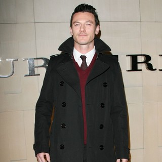 Luke Evans in Burberry Body Fragrance Launch Hosted by Christopher Bailey and Rosie Huntington-Whiteley