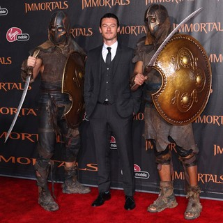 Luke Evans in Immortals 3D Los Angeles Premiere
