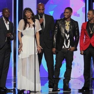 Derek Luke, Paula Patton, Boris Kodjoe, Trey Songz, Terrence J in The 2013 BET Awards - Inside