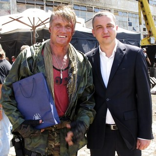 Dolph Lundgren, Ivan Portnih in The Expendables 3 Film Set