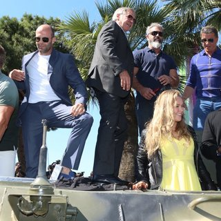 Dolph Lundgren, Jason Statham, Harrison Ford, Mel Gibson, Ronda Rousey, Sylvester Stallone, Wesley Snipes in The 67th Annual Cannes Film Festival - The Expendables 3 - Photocall