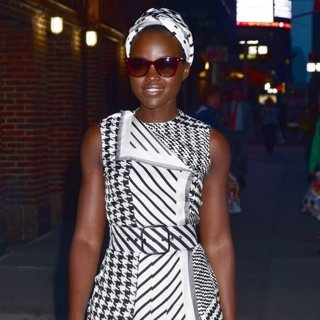 Lupita Nyong'o-Lupita Nyong'o Outside The Late Show with Stephen Colbert Studios