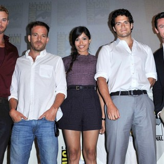Kellan Lutz, Stephen Dorff, Freida Pinto, Henry Cavill, Luke Evans in Comic Con 2011 - Celebrities at The Convention Centre - The Immortals Panel