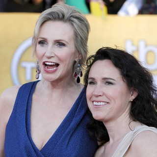 Jane Lynch, Lara Embry in The 18th Annual Screen Actors Guild Awards - Arrivals