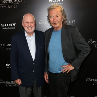 Michael Lynne, Robert Shaye in Premiere of Screen Gems and Constantin Films' The Mortal Instruments: City of Bones