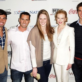 Evan Lysacek, Merrill Moses, Missy Franklin, Nicole Kidman, Nathan Adrian in Gold Meets Golden Event
