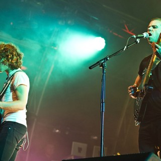 Jordan Lawlor, Anthony Gonzalez, M83 in M83 Performing Live