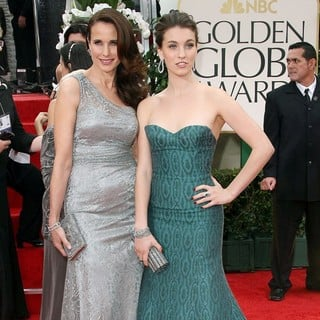 Andie MacDowell, Rainey Qualley in The 69th Annual Golden Globe Awards - Arrivals