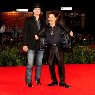 Robert Rodriguez, Danny Trejo in The 67th Venice Film Festival - Day 1 - 'Machete' - Premiere