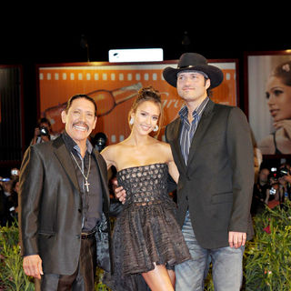 Danny Trejo, Jessica Alba, Robert Rodriguez in The 67th Venice Film Festival - Day 1 - 'Machete' - Premiere