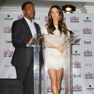 Anthony Mackie, Kate Beckinsale in Piaget at The 2012 Film Independent Spirit Awards Nominations Press Conference