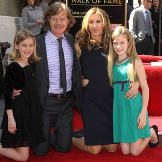 Sophia Grace Macy, William H. Macy, Felicity Huffman, Georgia Grace Macy in Felicity Huffman and William H. Macy Are Honored with Stars at The Hollywood Walk of Fame