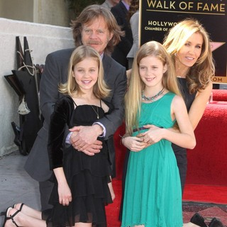 Sophia Grace Macy, William H. Macy, Georgia Grace Macy, Felicity Huffman in Felicity Huffman and William H. Macy Are Honored with Stars at The Hollywood Walk of Fame