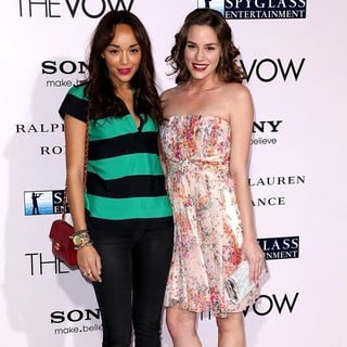 Ashley Madekwe, Christa B. Allen in The Vow Los Angeles Premiere