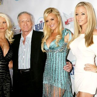 Holly Madison, Hugh Hefner, Bridget Marquardt, Kendra Wilkinson in The Reality Awards - Arrivals